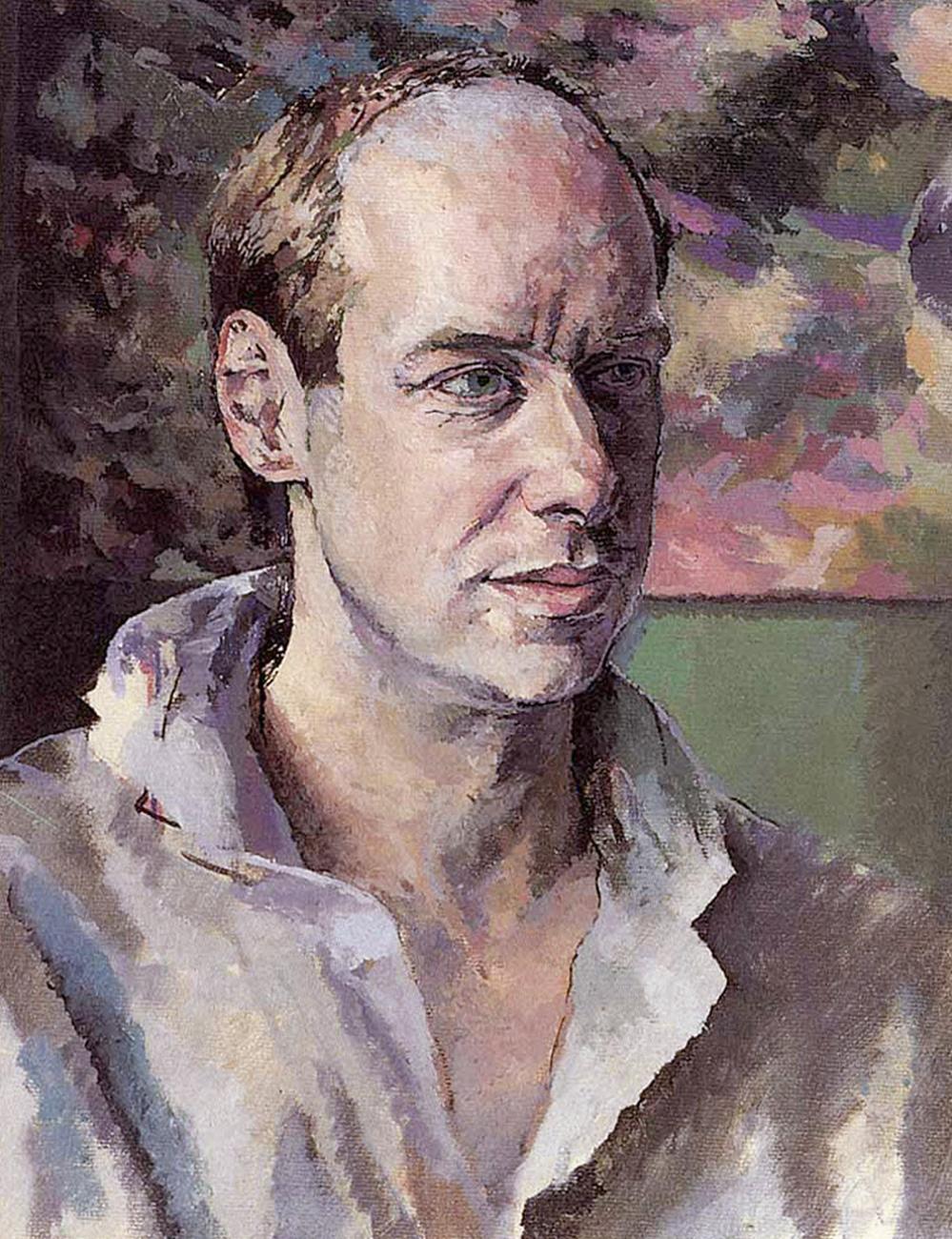 Camasa casual moderna in viziunea lui Brian Eno -National Portrait Gallery - By Tom Philips